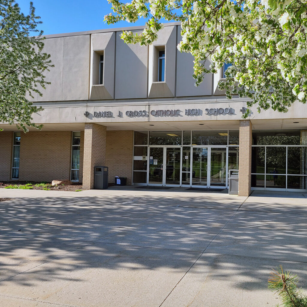 Student Council represents Gross Catholic High. Here is a picture of the front of our building.