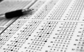 Admissions Exam scantron and pencil