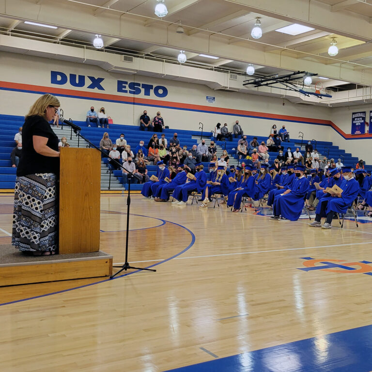 Celebrating our seniors during recognition day in the main gym