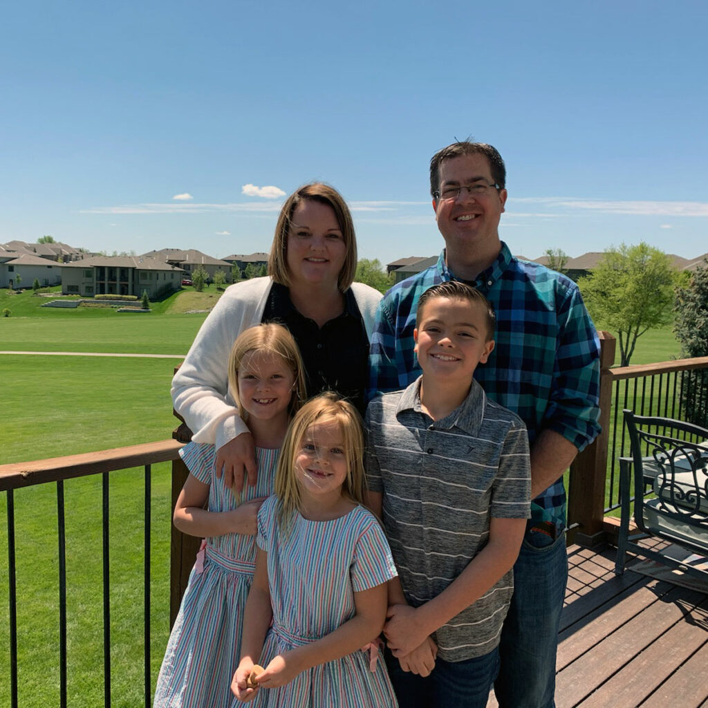 New Admissions and Recruitment Director Kara Wesely and family
